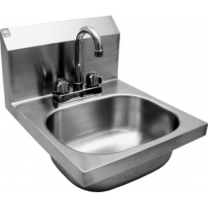 Wall Mount Hand Sink W/Deck Mount Faucet