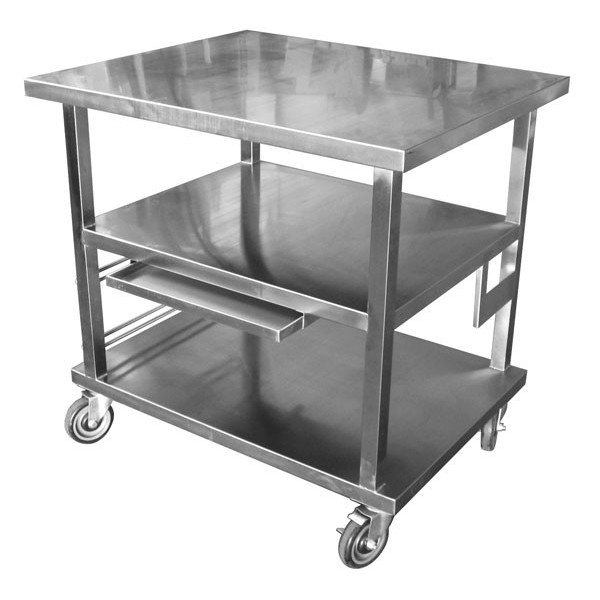ACE Atlanta Culinary Equipment Inc Work Table Cart - Stainless steel work table with wheels